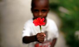 Child-with-Haitian-national-flower
